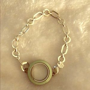 Authentic Origami Owl Silver Bracelet with locket